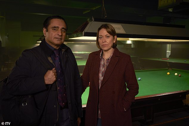 Unforgotten viewers were left 'sobbing' after last night's series finale that saw DCI Cassie Stuart (Nicola Walker) lose her fight for life. Pictured, with Sanjeev Bhaskar as DI Sunny Khan