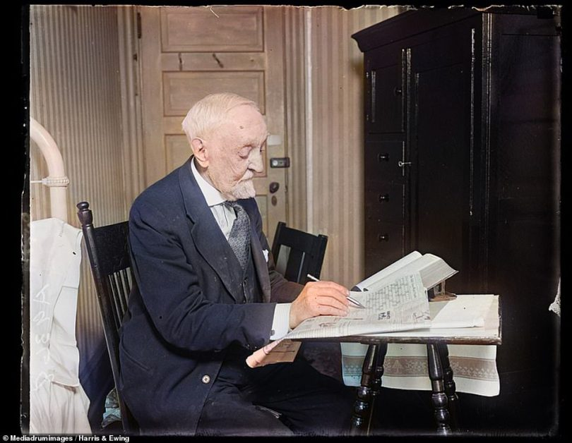 The daily crossword puzzle is one that is still played by many today, though the historic puzzle may have been even more popular back in the 20th century. This picture shows a man named Ambrose Hin tackling a crossword puzzle back in 1925. The very first crossword was run in the New York World newspaper on December 21, 1913