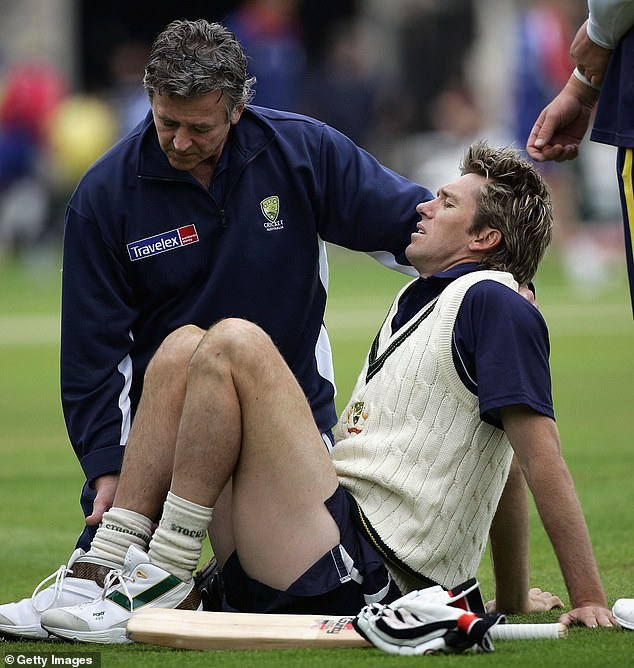 Glenn McGrath stood on a rogue cricket ball and injured his ankle during the 2005 Ashes