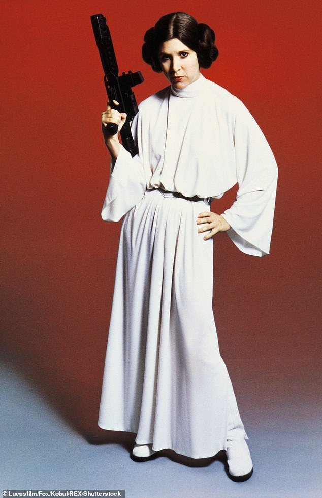 Inspo: Sarah Jane appeared to be channeling Star Wars actress Carrie Fisher's iconic character Princess Leia (pictured)