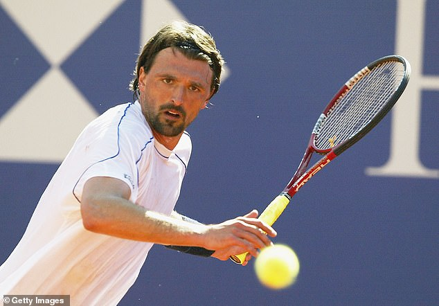 Goran Ivanisevic slammed a door onto his fingers and broke the middle one in Monte Carlo
