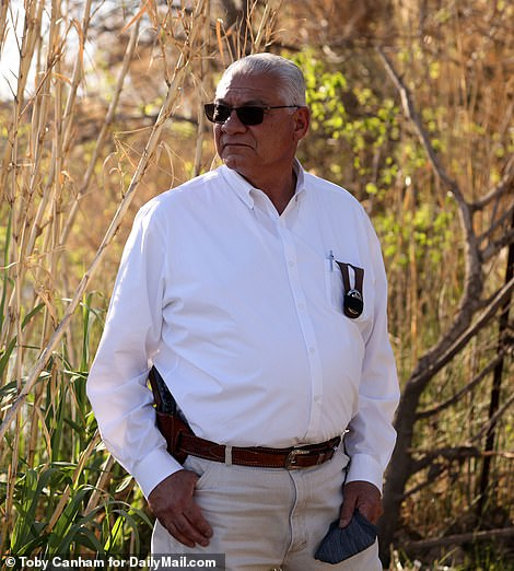 In an exclusive interview with DailyMail.com, Val Verde County Sheriff Joe Frank Martinez says, 'It's the easiest illegal border crossing along the Rio Grande'
