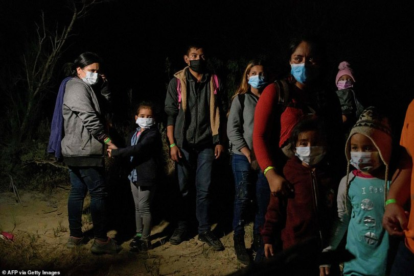 Migrants from Central America -the Department of Homeland expects approximately 500,000 to 800,000 migrants to arrive as part of a family group during the 2021 fiscal year