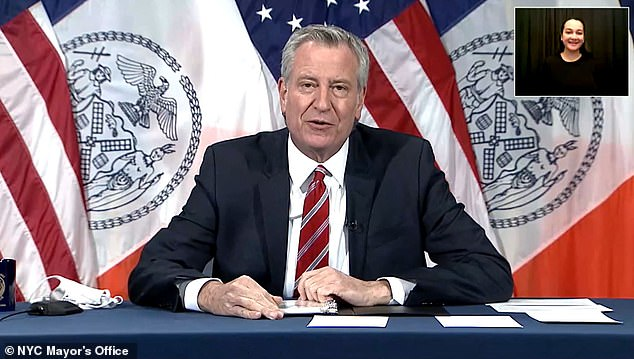 Mayor Bill de Blasio reiterated during the press conference that the best way to protect yourself from reinfection is to get vaccinated