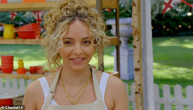 Crush:It came after Jade gushed over judge Paul Hollywood 's eyes, joking that she got all 'hot and bothered' when she arrived in the famous tent
