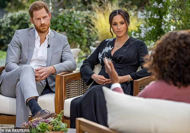 Bombshell: Prince Harry and Meghan spoke with Oprah Winfrey earlier this month and made shocking claims about racism and their negative treatment from the Royal Family
