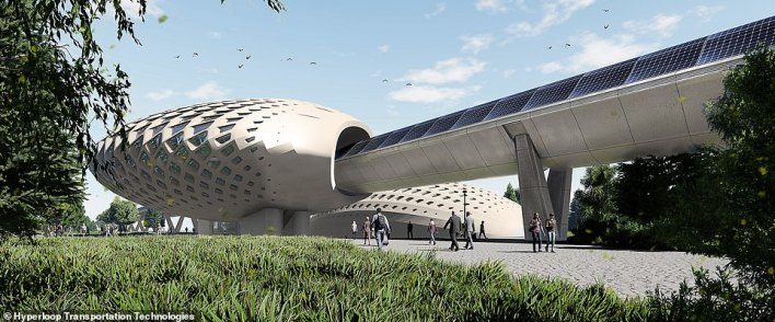 Thefirm plans to break ground for the US hyperloop in 2023 and have it running by 2028.The in-line station will offer a self-boarding platform and responds to natural light, air flow, heating and cooling