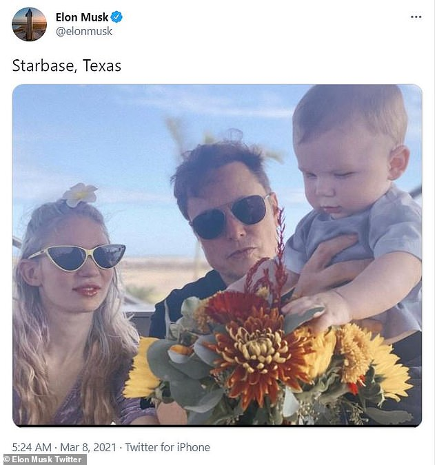Family: The couple and their son posed at the Texas facility earlier this month