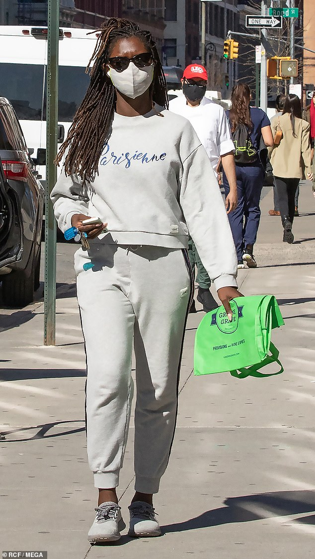 Solo: It's nearly a year since she gave birth to her first child with husband Joshua Jackson. And on Tuesday, Jodie Turner-Smith headed out to run a quick errand by herself in New York City