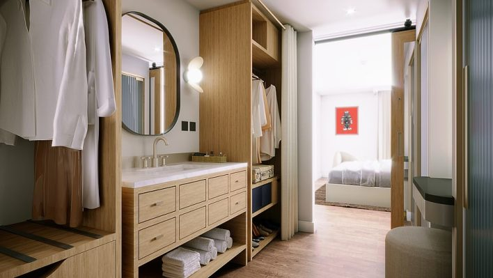 The rooms (rendering above) will feature Virgin's renowned 'street-priced¿ minibars