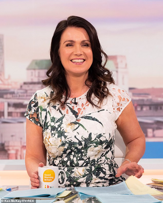 New role: It comes after it was claimed that Susanna is reportedly being lined up as the solo star of Good Morning Britain following Piers ' departure from the breakfast show (pictured on Wednesday)