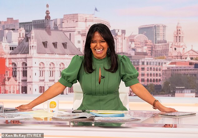 Reassurance: As cameras returned to the studio, a visibly stunned Ranvir asked fellow presenter Susanna, 'He didn't call me dreadful, did he Susanna?'