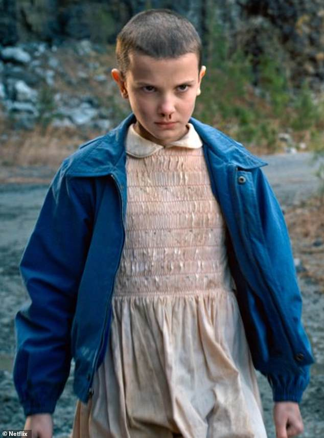 Big break:It comes after Millie promised to fight 'stigmas and stereotypes' after a successful night at the Kids' Choice Awards earlier this month, the actress soared to fame as Eleven in the hit Netflix series Stranger Things (pictured)