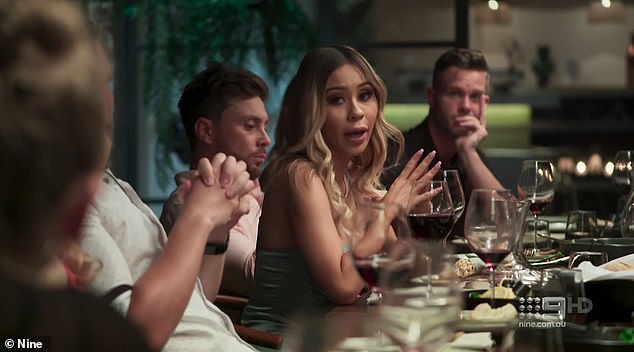 Married At First Sight BOMBSHELL: Alana Lister (pictured) threw Jason Engler under the bus during Wednesday's episode, as she claimed Bryce Ruthven told her husband he'd be 'SINGLE' by the end of the experiment