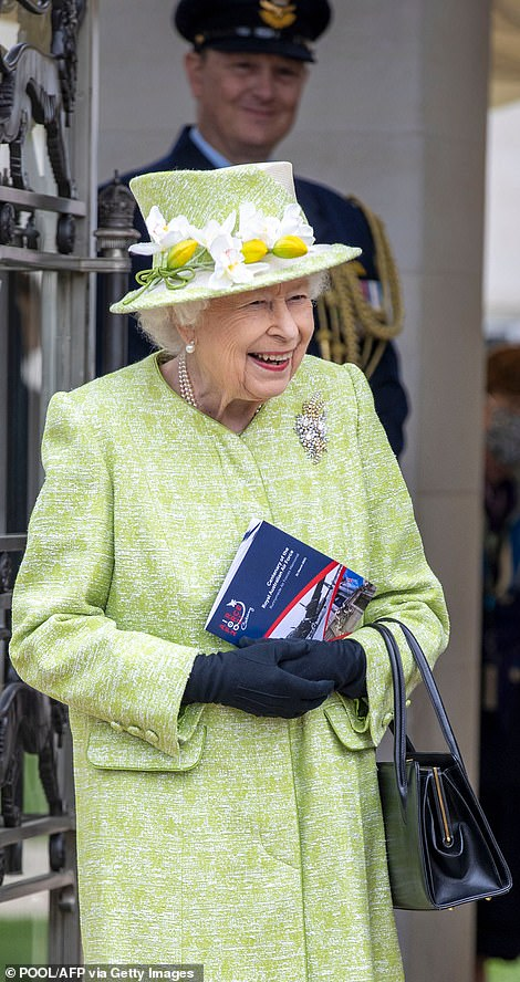 Service personnel at the event looked delighted to have Her Majesty in their company, as she happily chatted to them all ahead of the service