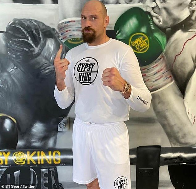 Tyson Fury looks trim and in great shape ahead of his £200m fight with Anthony Joshua