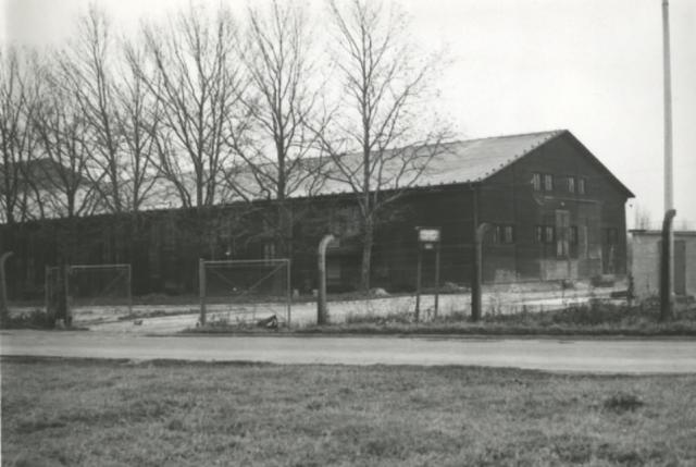 The wooden camp kitchen and SS canteen building known as Kameradschaftsheim der Waffen SS KL is pictured above. Work began on the building in 1941 when Auschwitz was expanding. By 1945, there were more than 4,500 SS soldiers stationed at the camp. A wife of one of the soldiers recalled the building hosting wonderful parties with delicious food but that on arrival the smell from the crematoria was unbearable