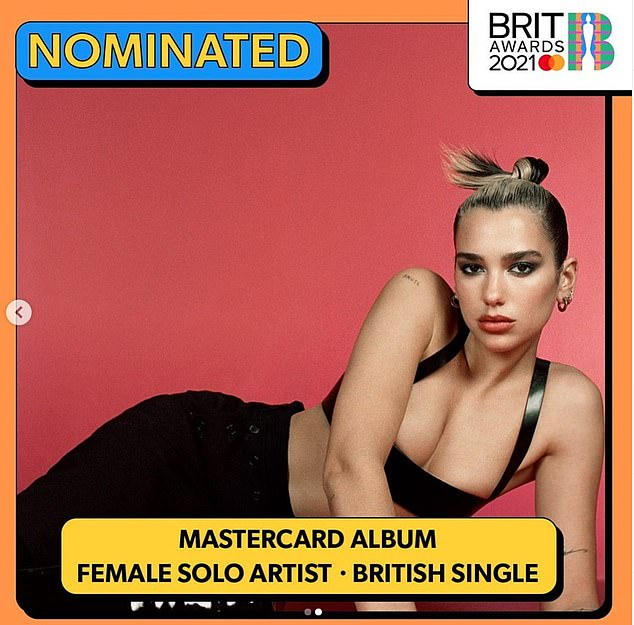 Big news! Dua has been nominated for three nominations in total