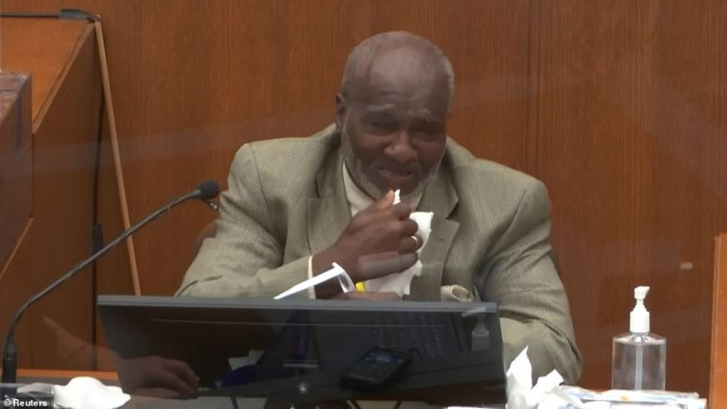 Charles McMillian, 61, wept on the stand on Wednesday as he watched body camera footage of George Floyd's arrest