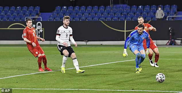 Timo Werner produces HORRENDOUS miss in Germany's shock World Cup qualifying loss to North Macedonia - 247 News Around The World