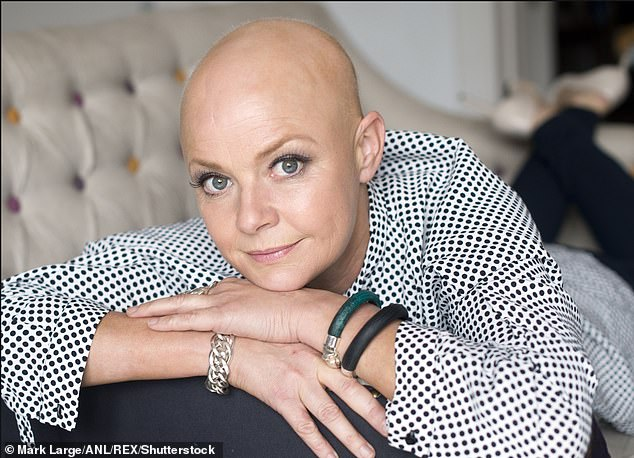Strong: Gail said, 'I'm homeless, I've gone bankrupt, I've lost my hair, I've lost my mom and dad - I'm still here.  You can't get rid of me '' (photo from 2015)
