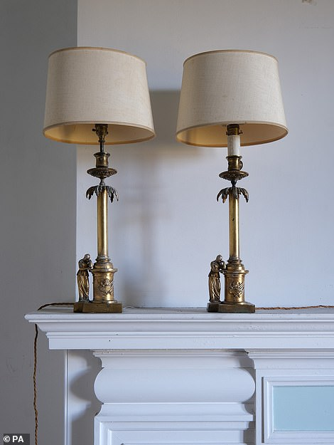 A pair of 19th century Ormolu lamps are among the items found in the attics and cellars at Dunrobin Castle