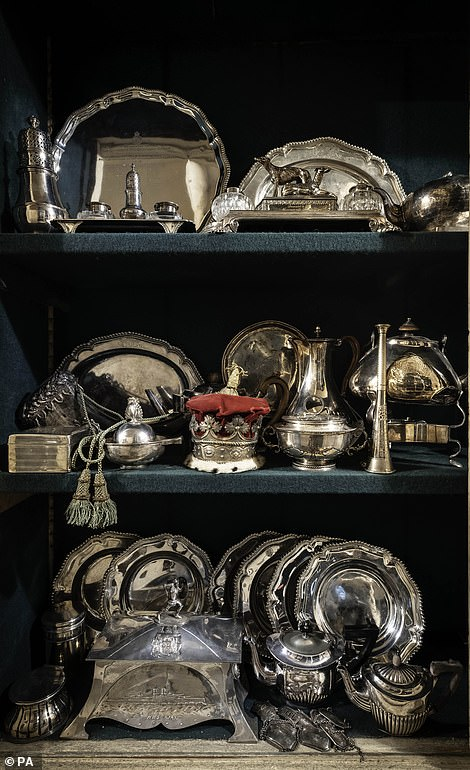 A collection of silver were among the items found in the attics and cellars at Dunrobin Castle