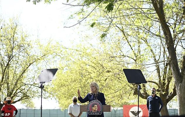 Jill Biden praised farm workers as 'essential workers' during the coronavirus pandemic.