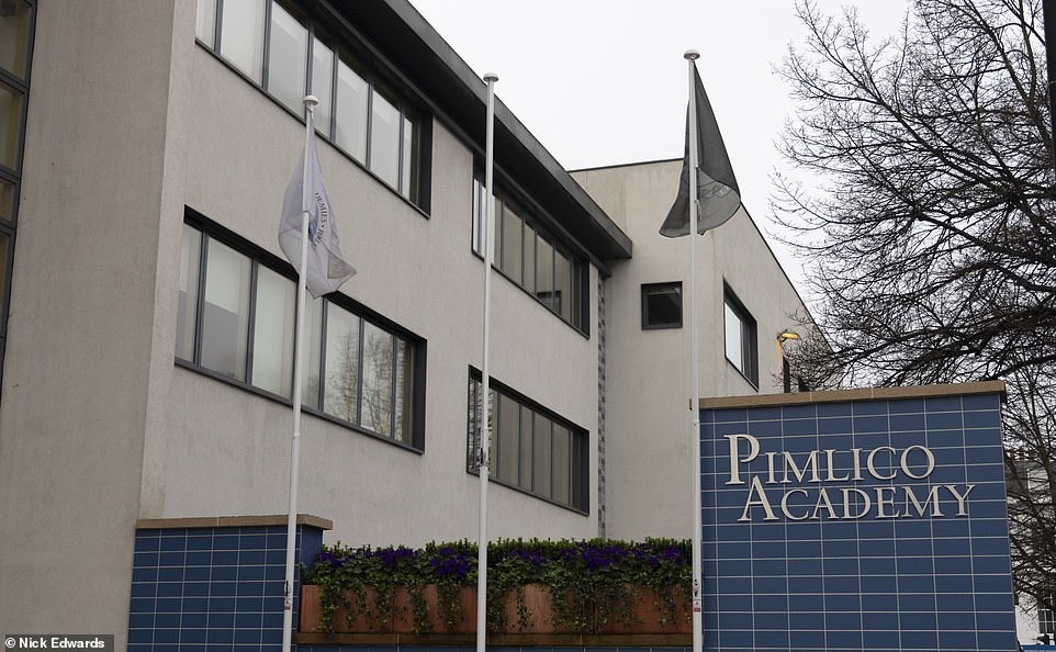 Now: The Union flag was no longer flying at Pimlico Academy in London this morning following a revolt by pupils, who demanded it be removed. The two left are school flags