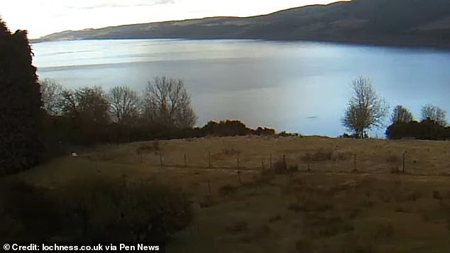The subtle black shape in the bottom right of Loch Ness is believed to be the monster by Nessie hunters