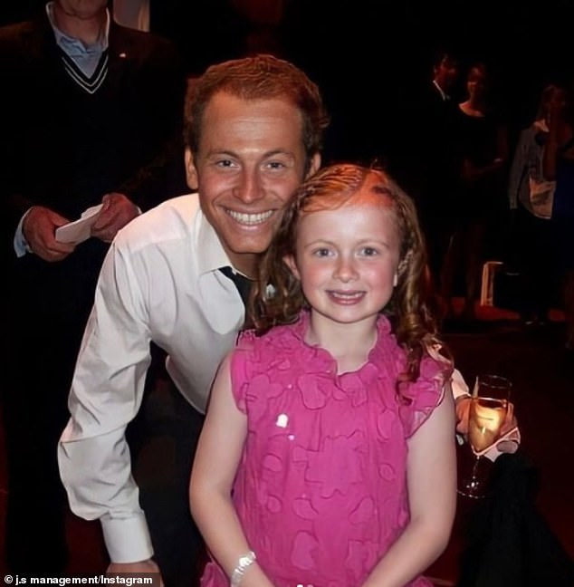 Way back when: In one snap, a young Maisie posed with Joe Swash, 39, who starred on the soap between 2003-2008, at a showbiz party