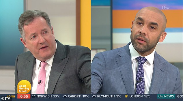Clash: Beresford, 40, famously clashed on-air with Piers Morgan, 55, as he defended Meghan Markle following her bombshell interview with Oprah Winfrey