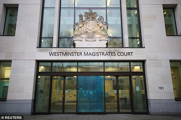 Chabloz denied, but was convicted of, sending further grossly offensive comments on a public communications network at Westminster Magistrates¿ Court (pictured)