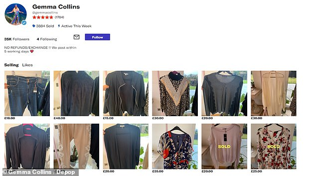For Sale: The former TOWIE star, 40, has become the latest star to sell his unwanted clothes on Depop with hundreds of items including jackets, jeans and dresses up for grabs