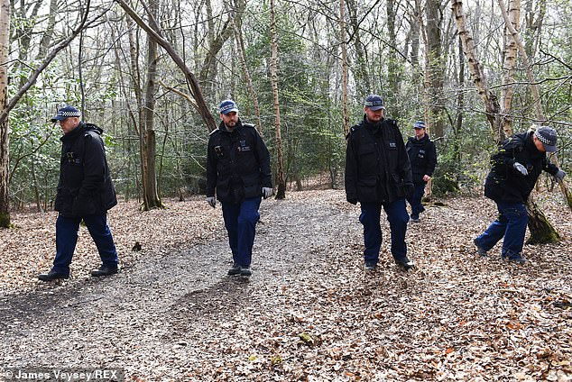 Following the discovery of CCTV footage showing Richard in Loughton, police descended on Epping Forest on April 1, and remain there today