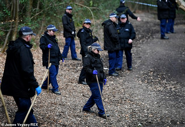 Police officers searching for Richard Okorogheye are combing through parts of Epping Forest in Essex today, after arriving on Wednesday