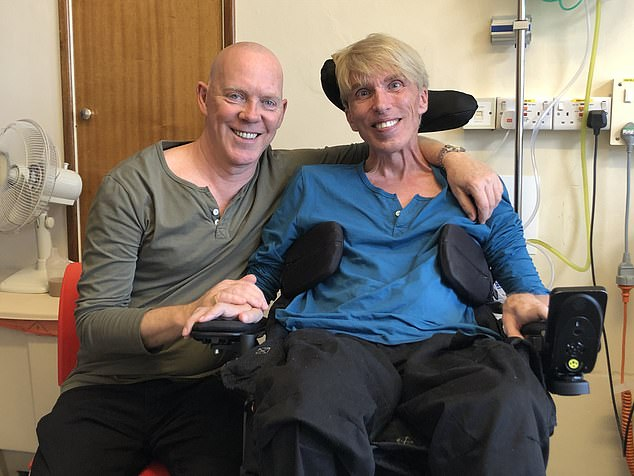 Peter, pictured with Francis, said he's always believed he could 'change everything whatever the odds' with knowledge and technology after being inspired by sci-fi programmes Doctor Who and Star Trek as a child