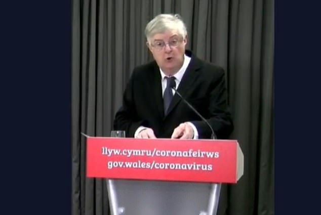 Addressing the delay in reopening Welsh pubs, Mr Drakeford told a press conference that mirroring the English reopening had been deemed 'not advisable on public health grounds'