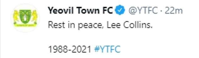 The National League club tweeted out the news on Thursday afternoon and tributes poured in