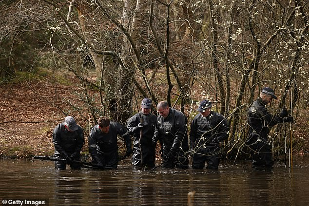 Police are searching the water in Epping Forest on Thursday. Det Insp Danny Groom said officers do not know why he travelled to Loughton on the night he disappeared