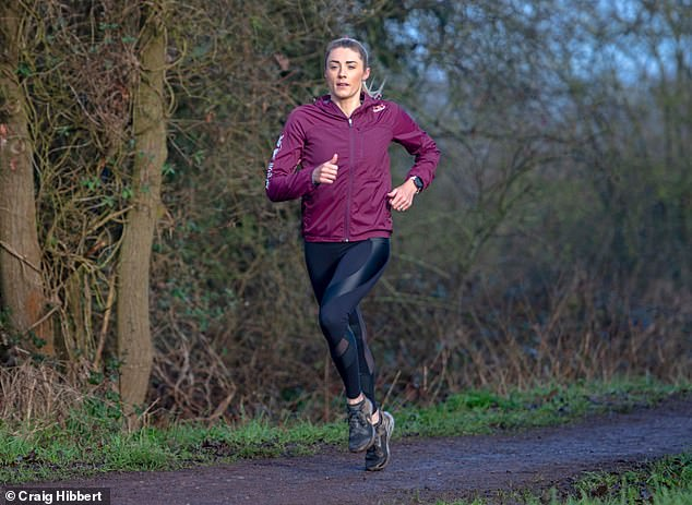 Lucy (pictured) married fellow professional triathlete Reece, six years after they met through swimming