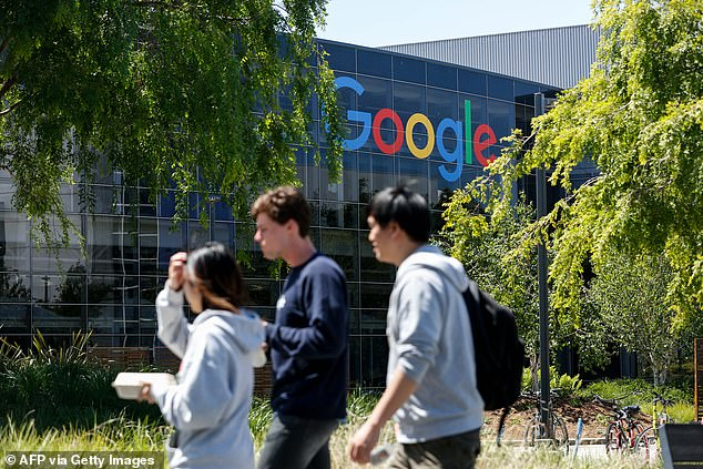 Google (file image of Mountain View office) has announced that some of its US employees have the option of returning to the office this month. The company told staff on Wednesday that offices would be reopening in a limited capacity