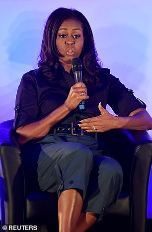 Michelle Obama pictured at the EGA school in 2018