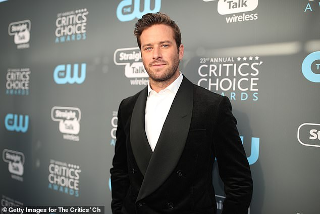 Out:Armie Hammer was replaced in yet another on-screen opportunity amid the fallout from his cannibalism controversy and rape allegations which first came to light last year
