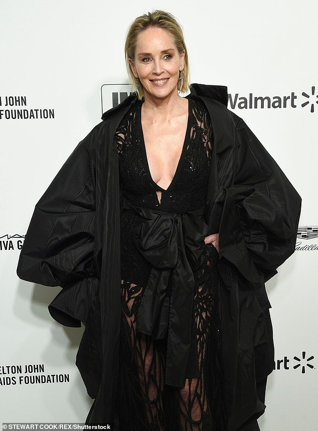 Candid: Sharon Stone has reflected on her past miscarriages while appearing onRadio 4 Women's Hour and BBC Sounds (pictured in February 2020)