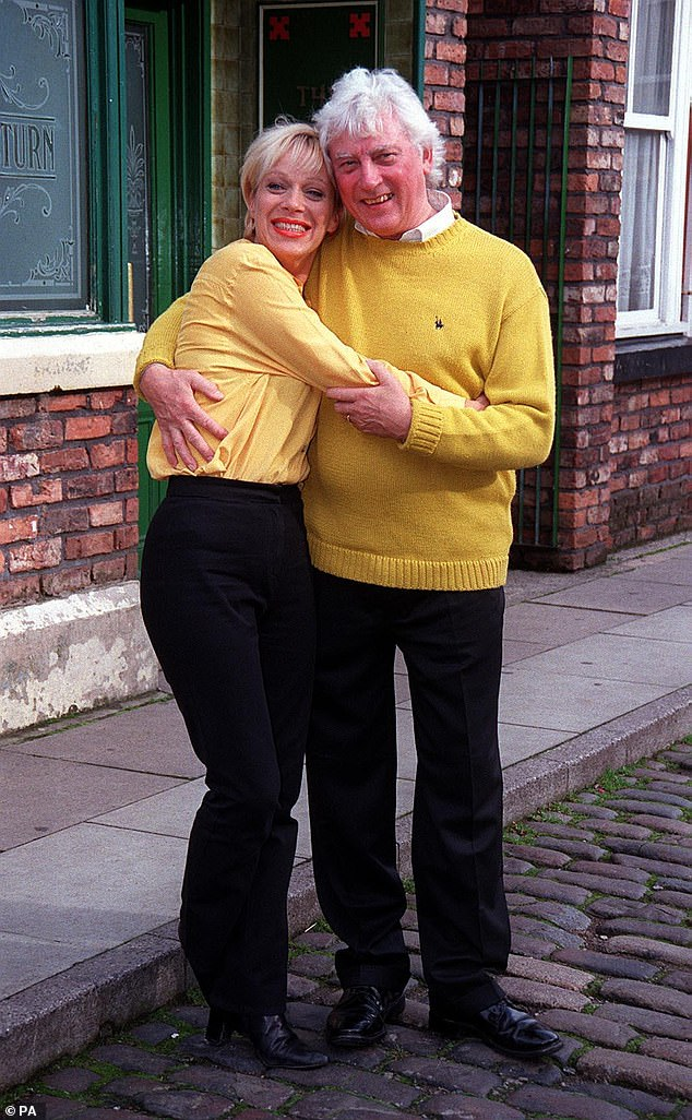 Update: The TV star revealed that her 84-year-old father is now at home with her, and explained he's been going 'downhill' since Christmas (pictured together in 1998)