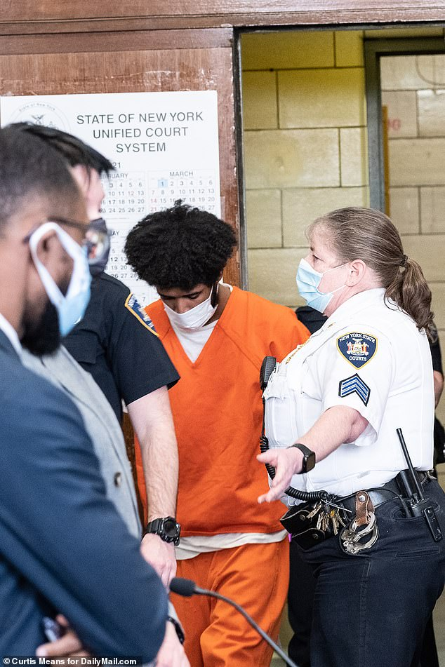The A-Train Ripper who was arrested covered in blood after going on a subway stabbing spree was indicted in New York Supreme Court on Thursday