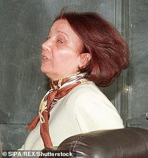 Real life: Pina Auriemma (pictured at the 1998 trial), who was a clairvoyant friend of 'black widow' Patrizia Reggiani and jailed for 25 years