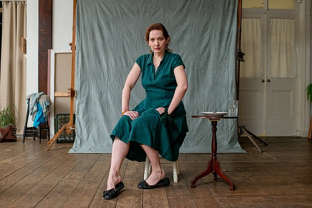 Katherine Parkinson's play Sitting premiered at the Edinburgh Festival in 2018 and can be seen on BBC4 on Wednesday next week, and iPlayer thereafter. Pictured: Parkinson in Sitting