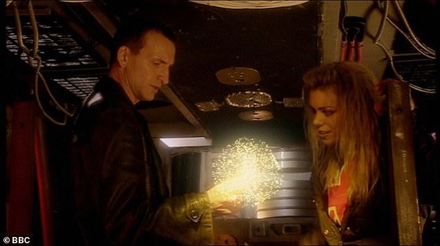 Legendary: Despite only playing The Doctor for a single series in 2005, Christopher is still hailed for bringing Who back to prominence (pictured with Billie Piper as Rose Tyler)
